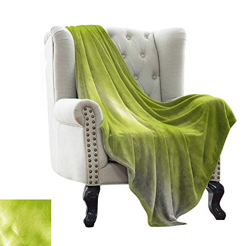 LsWOW Blanket Basket Sage,Digital Shady Color Abstraction Grunge Retro Style Springtime Ecology Growth Go Green,Apple Green Blanket for Sofa Couch TV Bed All Season 35