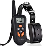 TinMiu Dog Training Collar 2018 Upgraded Collar 1650FT Remote 4 Working Modes with Tracking Light/Beep/Vibration/Shock IP67 Waterproof and Rechargeable Shock Collar for Small Medium Large Dogs
