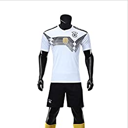 Maillot de Football Allemand for Homme (Domicile et extérieur) Football Wear Personnalisé Football personnalisé Set WASDUNS (Color : White, Size : S)