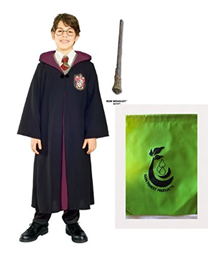 Ron Burgundy Costume Large (Ron Weasly Bundle, Harry Potter Griffindor Robe, Ron Wand and a bag for your costume)