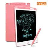 LCD Writing Tablet, 10 Inch Digital Electronic Graphics Tablet Ewriter Mini Board Handwriting Pad with Memory Lock Suitable for Kids and Adults for Home, School and Office Pink