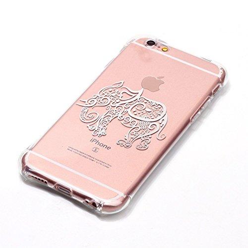 inShang iphone 7 Funda Case de 4.7 [funda para iPhone de Transparente] [ 3D imagen con la tecnología de broncea], la cubierta protectora conveniente estilo nuevo case cover para el iPhone 7 03