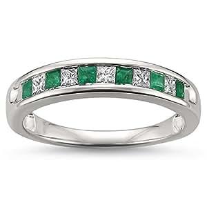 Wedding Ring Diamond Emerald Cut