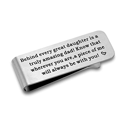 CJ&M Gift for dad from Daughter ? Money Clip for dad, Gift for Fathers Day, Daddy Money Clip]()