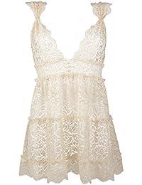 Amazon.com  Ivory - Baby Dolls   Chemises   Lingerie  Clothing ... 1f92374e291