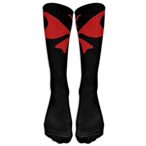 Unisex Knee High Long Socks Butterfly -46 Sport Wrist Socks ZHONGJIAN