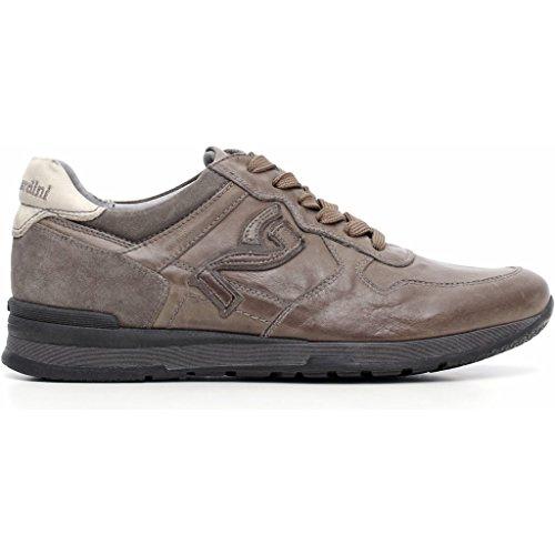 Nero Giardini - Zapatillas de Piel para hombre gris Cemento