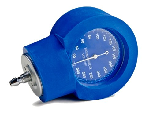 Housing Drop - Pivit Manometer Gauge Guard Cover Protector | White Faceplate Rubber Blue Housing | Slip Over Any Standard Aneroid | Protect Against Damaging Drops | Keep ADC Gauge Dependable Accurate & Ready For Use
