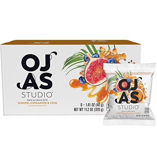 Cheap OJAS STUDIO Date & Grain Bites, Ginger Cinnamon Chia, 1.41 Ounce, 8 Count