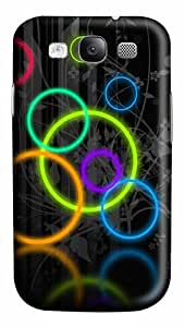 Colored circles PC Case Cover for Samsung Galaxy S3 I93003D