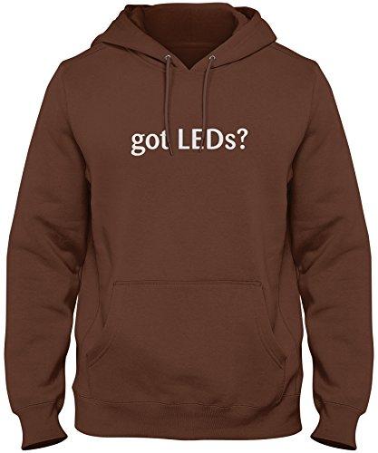 shirtloco Men's Got LEDs Hoodie Sweatshirt, Chocolate 2XL