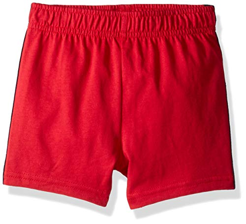 (The Children's Place Baby Boys Knit Jogger Shorts, Ruby, 18-24MONTH)