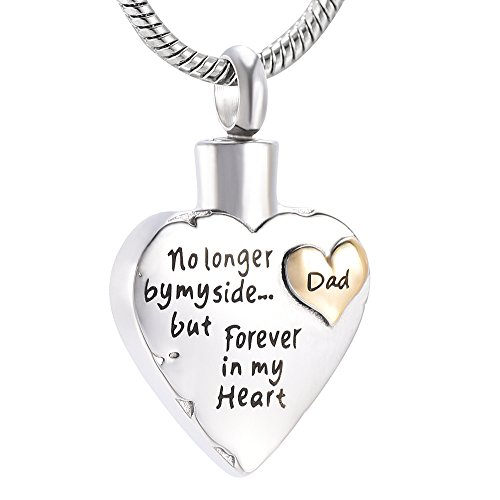 - Memorial Jewelry Mom Son Sister Daughter Brother Nan Dad Forever In My Heart Cremation Jewelry Keepsake Memorial Urn Necklace