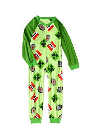 AME Minecraft Boys Sleeper Pajama (Green, S 6/7)