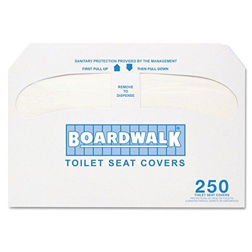 Boardwalk - Premium Half-Fold Toilet Seat Covers, 250 Covers/Sleeve - 10 - Covers Premium Toilet Krystal Seat