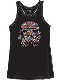 Stormtrooper Storm Trooper Tropical Floral Funny Humor Pun Juniors Tank Top Tanktop Slim Fit Adult Graphic Tee T-Shirt