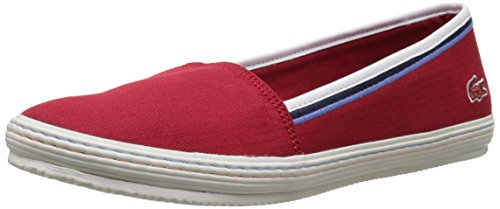 Lacoste Women's Orane 116 1 Flat, Dark Red, 7 M US