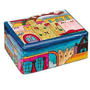 Bat Mitzvah Box - Jewelry Box For Bat Mitzvah Girls - Yair Emanuel SMALL JEWELRY BOX JERUSALEM (Bundle)