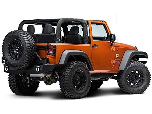 Redrock 4x4 Wrap Around Tail Light Guard - Gloss Black - for Jeep Wrangler JK 2007-2018