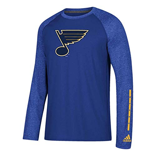 adidas St. Louis Blues Adult NHL Ultimate Long Sleeve T-Shirt - Royal, X-Large