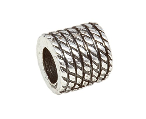 Rope Column Silver Plated Charm ()