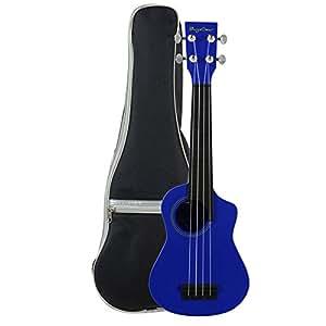Bugs Gear SCG-UK12B - Ukelele soprano, plástico, color azul