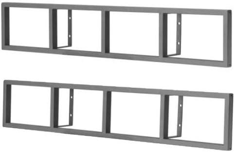 Amazon Com Ikea Lerberg Cd Dvd Wall Shelf Dark Gray X2 Kitchen Dining