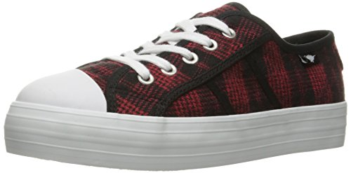 Rocket Dog Women's Magic Altan Cotton Fashion Sneaker, Red, 9 M (Plaid Shoes)