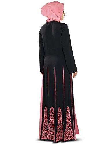 mit am Frauen MyBatua Abaya Designer amp; gesticktem Yoke Panels Anarkali qUIxx1wC4