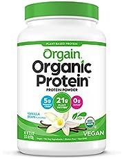 Orgain Organic Protein Powder, 2.03 lbs, Vanilla Bean
