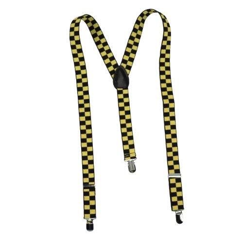 Bretelles fASHION bRACES jaune à carreaux