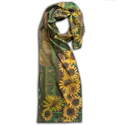 Sunflower Field Painting Scarf Fashion Pattern Printed Can Be Used As Shawl,Headscarf and Wrap for Women Men,Teens (Valance Floral Fields)