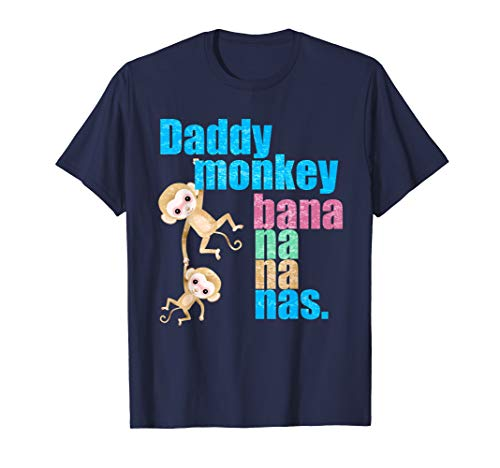(Daddy monkey Shirt, Fathers Day Gift from Wife Son Daughter)