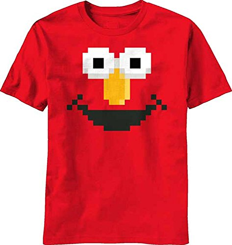 Sesame Street Elmo Face Adult T-Shirt-Large (Elmo Star)