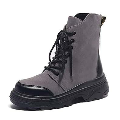 Amazon.com | Women Flock Wedges Martin Ankle Boots Girls