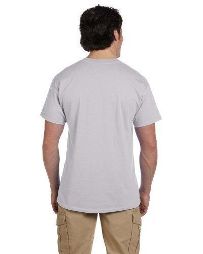Hanes Adult ComfortBlend EcoSmart T-Shirt, Light Steel, Large, (Pack of 3)