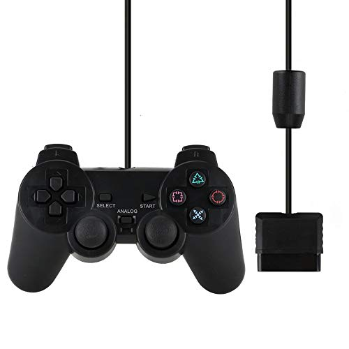 QMET PS2 Wired Controller for Sony PlayStation 2 Black