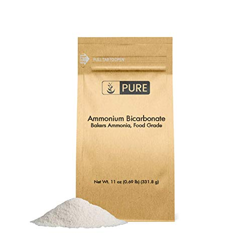 Baking Powder Leavening Agent - Ammonium Bicarbonate (11 oz.) by Pure Organic Ingredients, Traditional Leavening Agent Used in Flat Baked Goods Such as Cookies or Crackers
