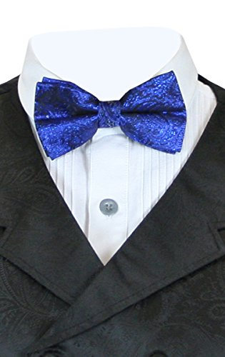 Historical Emporium Men's Showman Bow Tie Metallic Royal Blue]()