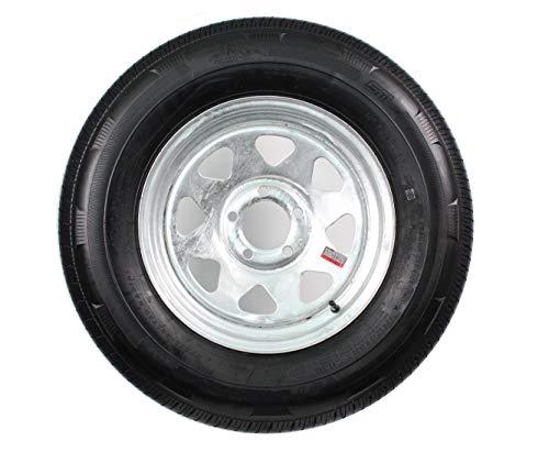 Radial Trailer Tire On Galvanized Rim ST225/75R15 LRD 5 Lug On 4.5 Spoke Wheel