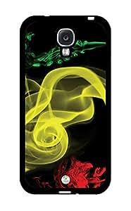 Rastafarian Reggae Colors Smoke Reggae Music Rasta RUBBER Samsung Galaxy S4 Case - Fits Samsung Galaxy S4 T-Mobile, AT&T, Sprint, Verizon and International