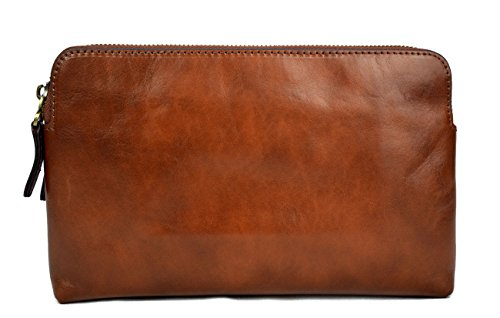 Leather clutch brown leather zipped bag big leather clutch zipper pouch leather zipper pouch leather clutch zipper clutch bag handbag by ItalianHandbags