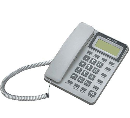 Corded Speakerphone Id Caller (KerLiTar K-P40W Corded Phone with Caller ID Speakerphone Calculator Alarm Home Office Desk Phone Landline(White))