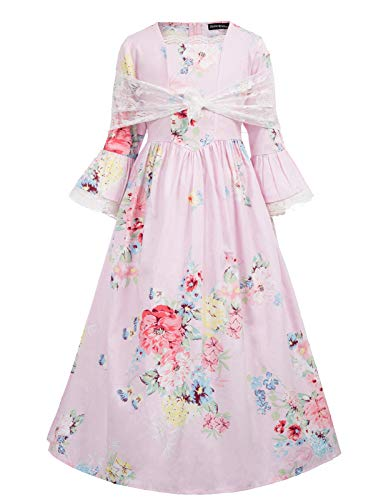 Victorian Girl Fancy Dress Costumes - Pioneer Colonial Women Costume Prairie Dress