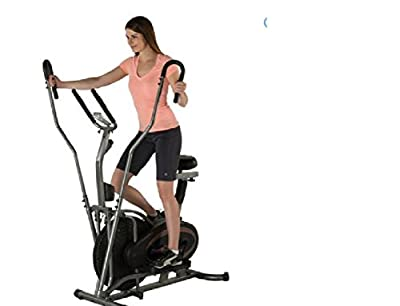 Fitness Reality E3000 2-In-1 Air Elliptical and Exercise Bike with Extended Multi-Grip Dual Action Arms and Heart Rate Monitor