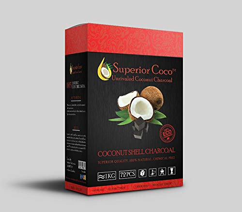 Superior Coco Coconut Charcoal-1kg Cube
