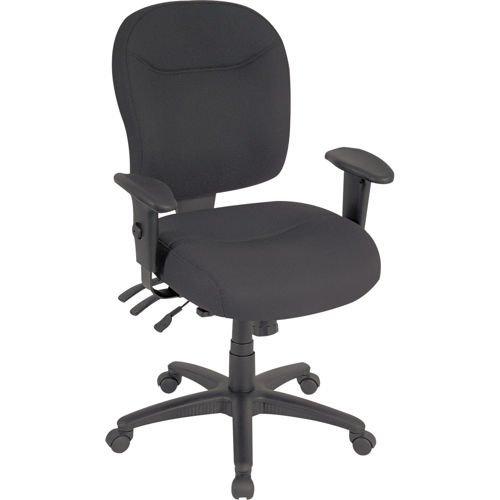 Alera Wrigley Series Black Fabric Mid-Back Chair
