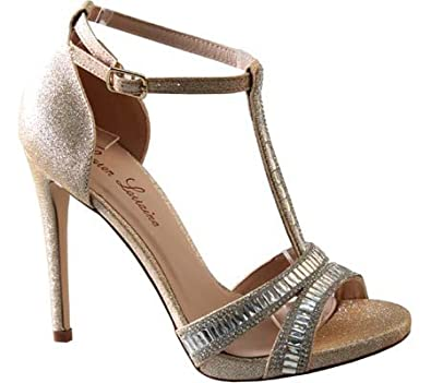 2985a145949 Lauren Lorraine Women s Anna T-Strap Sandal