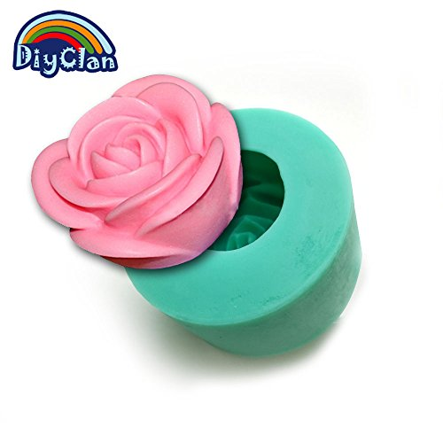 Food grade Silicone mold for cake decoration 3D wedding rose shape candle form handmade chocolate rose soap resin mold S0081HM25