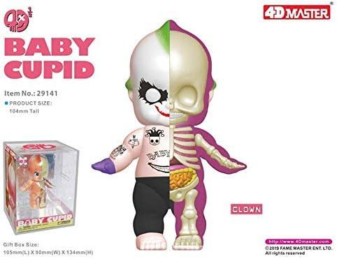 4D XXRAYリトルエンジェル ピエロMighty Jaxx Jason Freeny半解剖 高さ10.4cm玩具クマカブの解剖学的骨格モデル